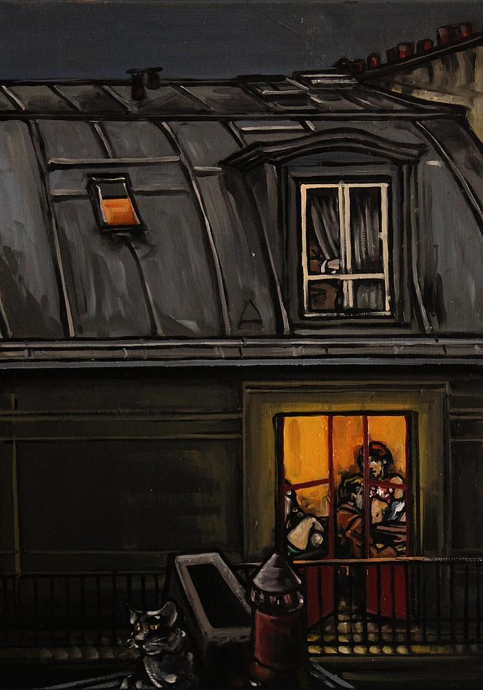 « Sonate au Clair de Lune », huile sur toile, 50x70 cm