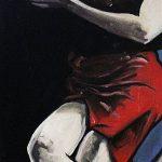 « Tango », huile sur bois, 33x100 cm