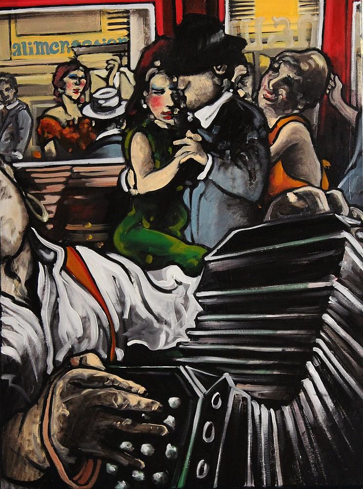 « Tard dans la Nuit », huile sur toile, 60x80 cm