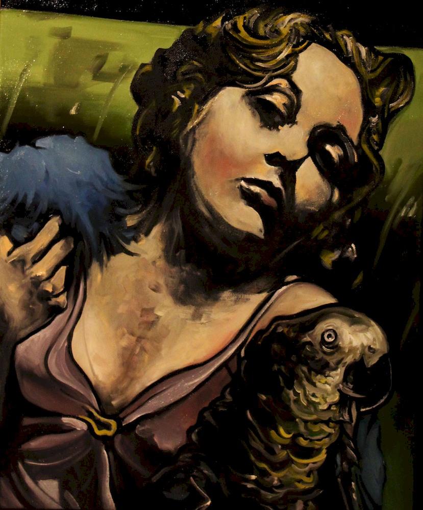 « Vague à l'Âme », huile sur toile, 50x60 cm